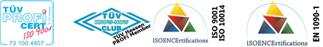 Tecnoimpianti è certificata ISO 9001 e EN 1090-1
