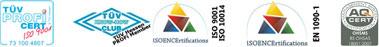 Tecnoimpianti è certificata ISO 9001, EN 1090-1 e BS OHSAS 18001